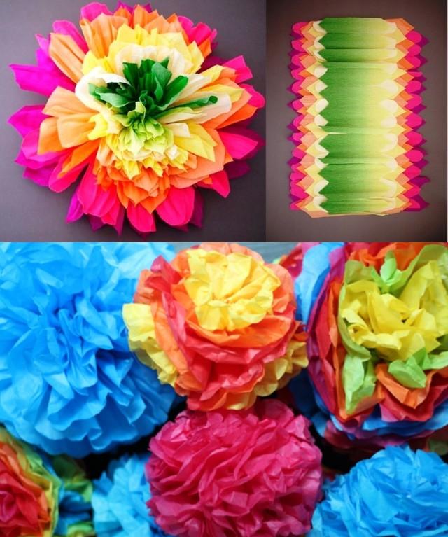 цветы собранные гармошкой