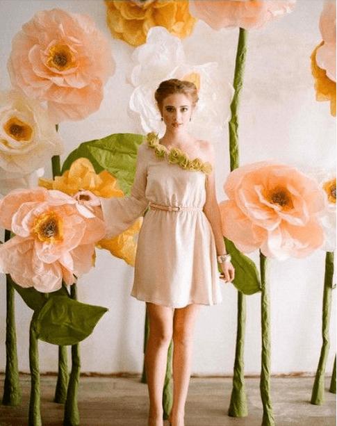 фотозона с цветами