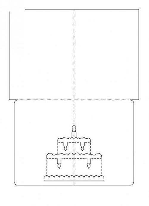 шаблон объемной открытки