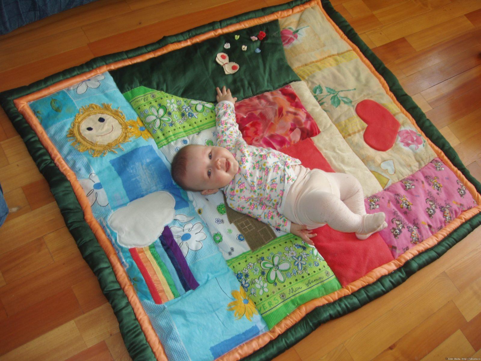 Сенсорные коврики для детей до года своими руками