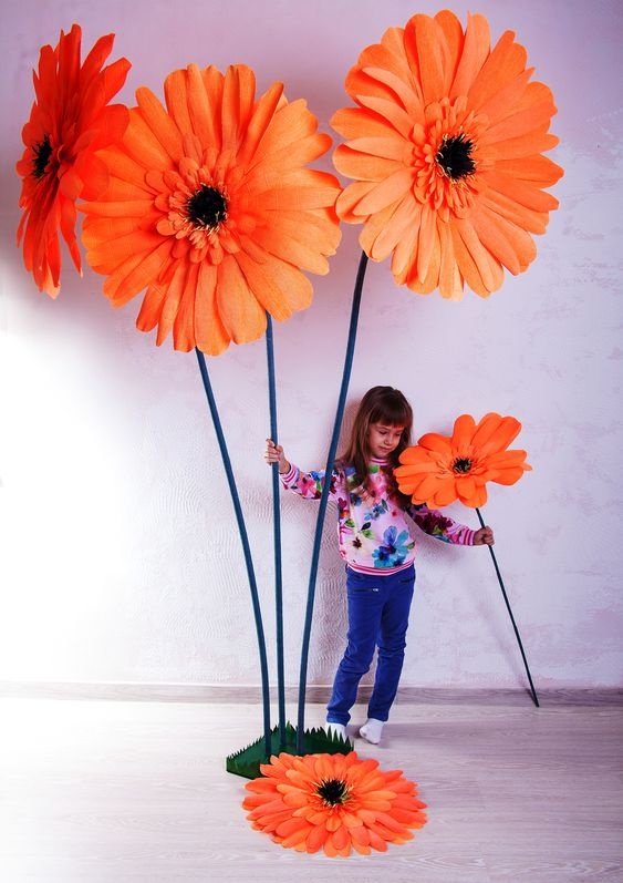 букет огромных цветов