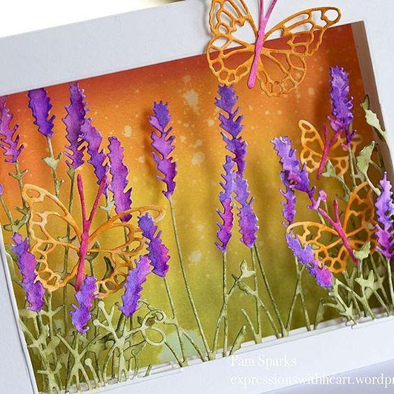 открытка с объемными цветами внутри
