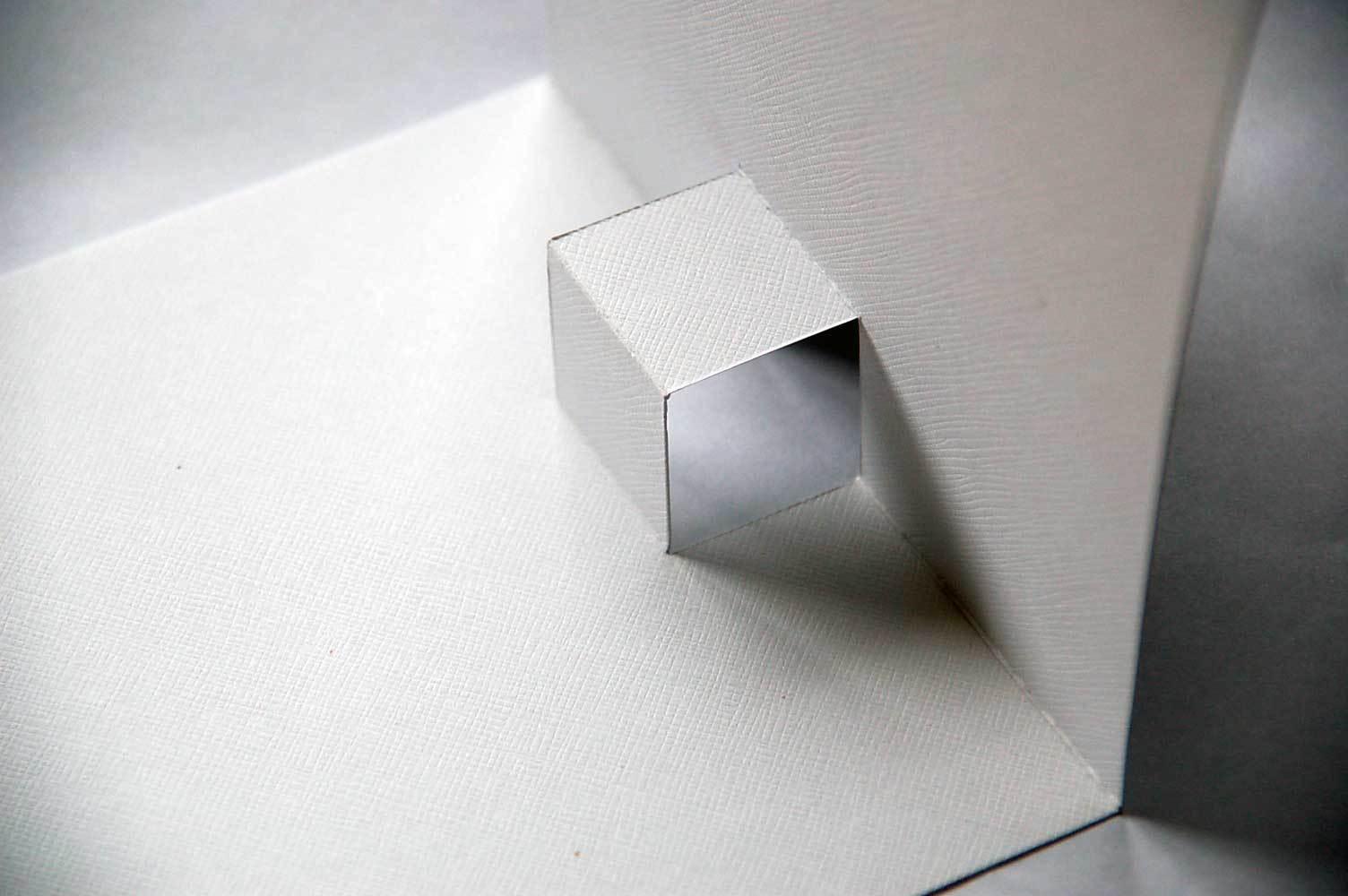 прямоугольник складываем вовнутрь открытки