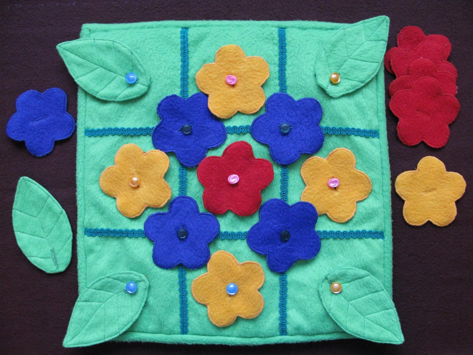 коврик из разных тканей