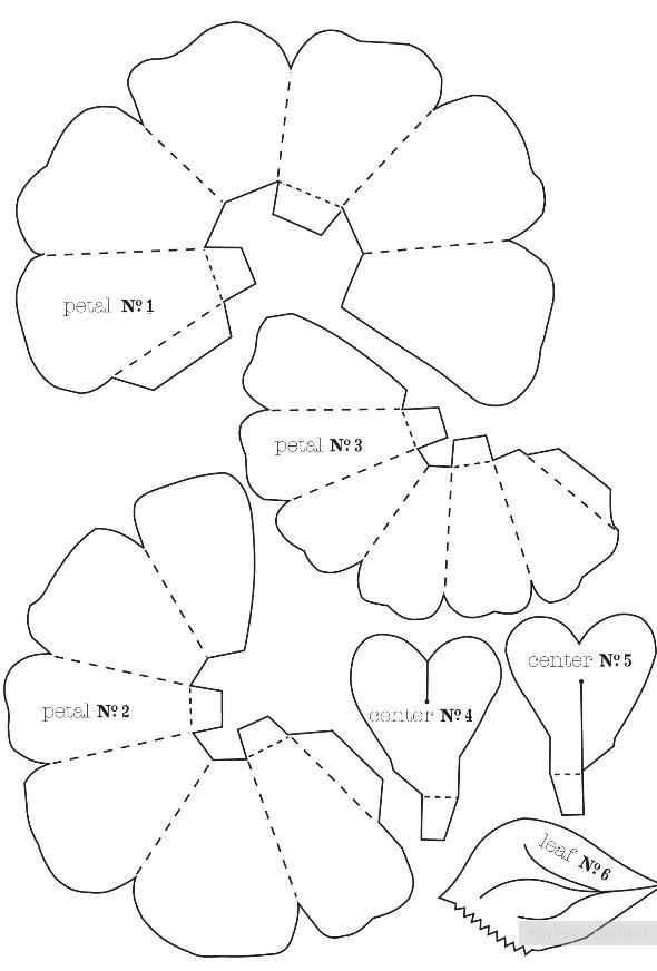 Открытки объемные схема шаблоны фото 7