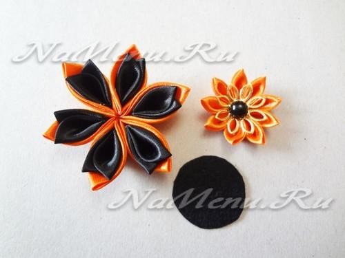 заготовки объемного цветка