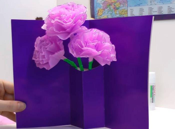 Открытка-ваза для цветов
