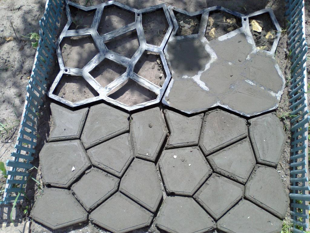 бетонная дорожка на дачу