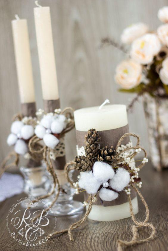 цветочный декор свечей