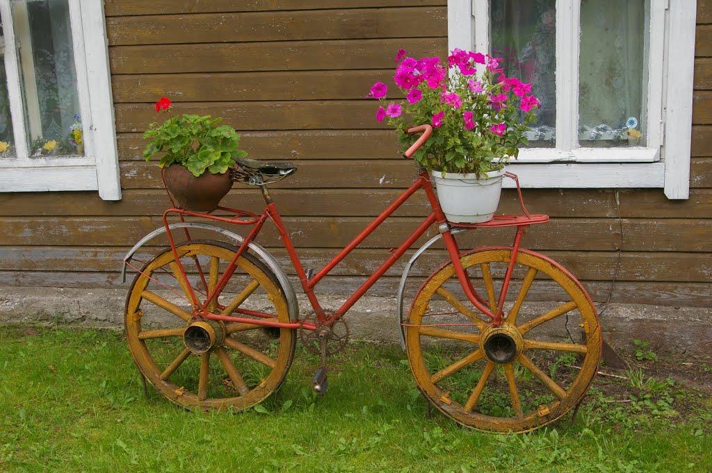 Еще одна клумба-велосипед