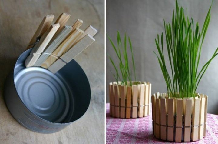 Прищепки вполне заменят бамбук
