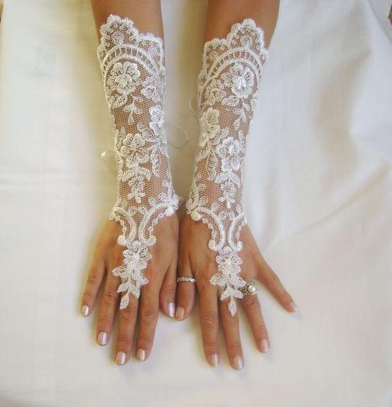 длинные свадебные перчатки
