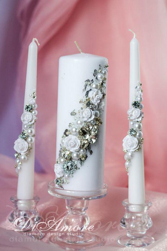 свечи с бусинами