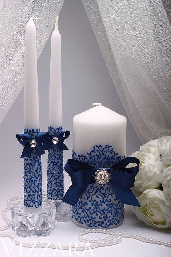 свеча с лентами
