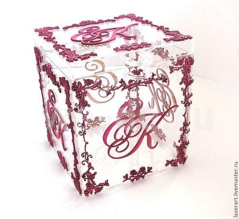 стильная свадебная коробка