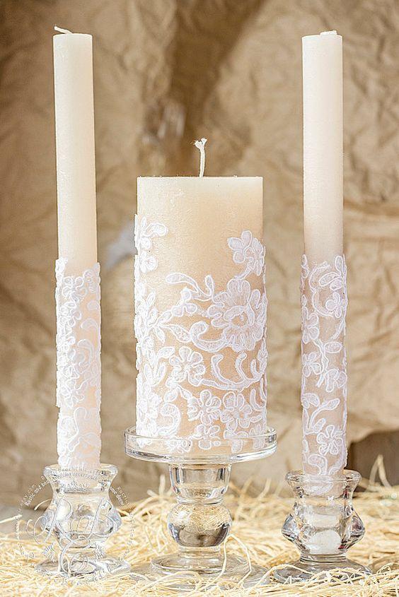 свечи кружево