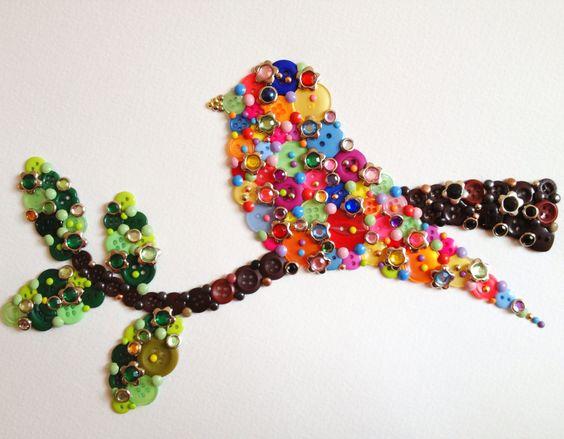 разноцветная птичка