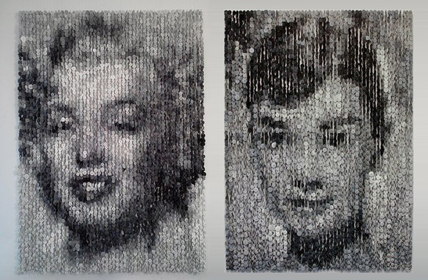 портреты из пуговиц