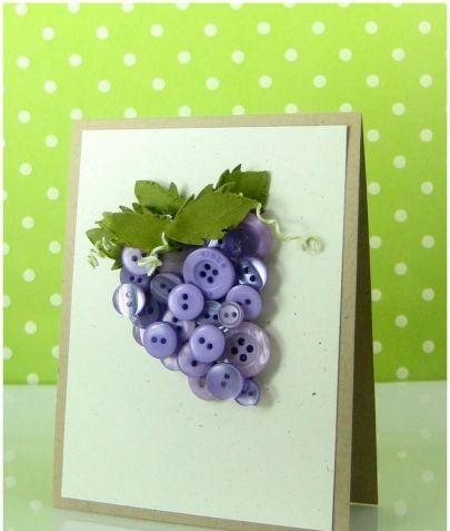 Объемная открытка – виноградная гроздь