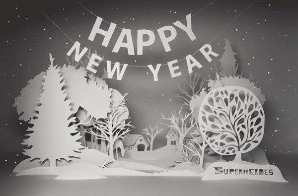 новогодние вытынанки