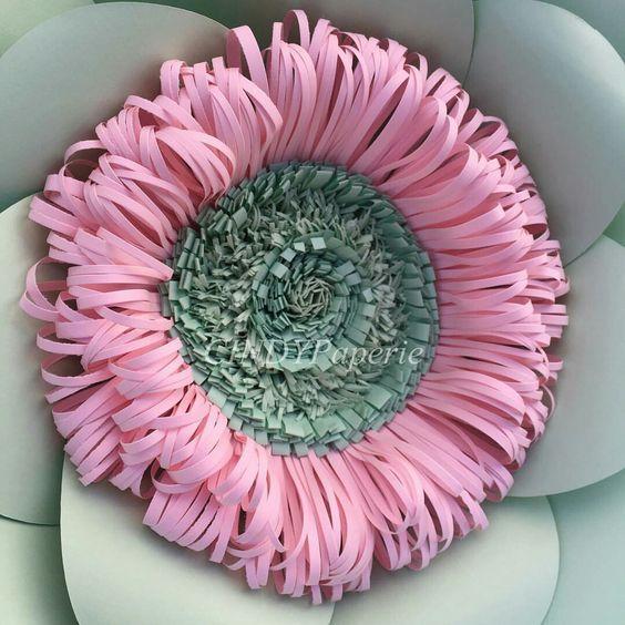 ростовые цветы из цветной бумаги