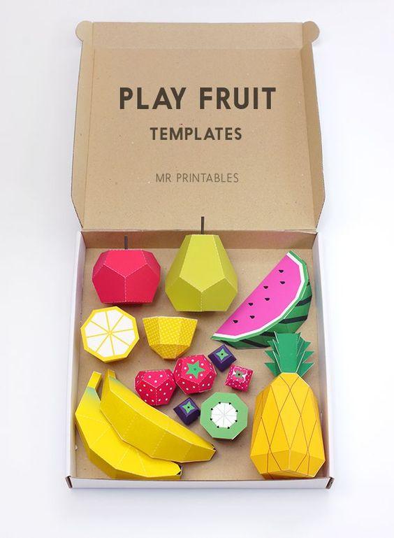 Объемные овощи и фрукты из бумаги