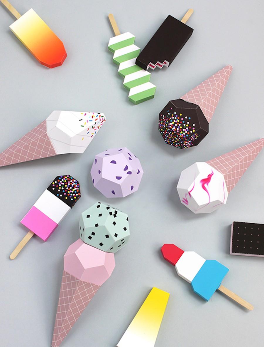бумажное мороженое