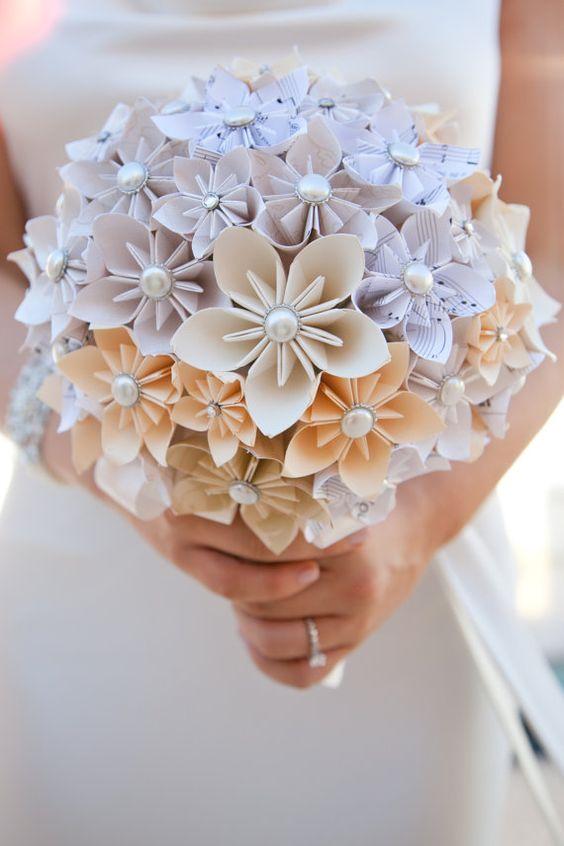 бумажный букет невесты