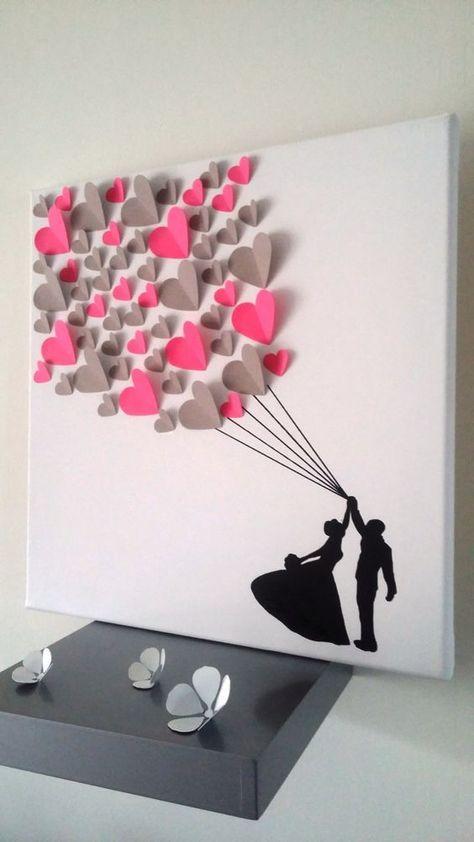 большая валентинка на стене