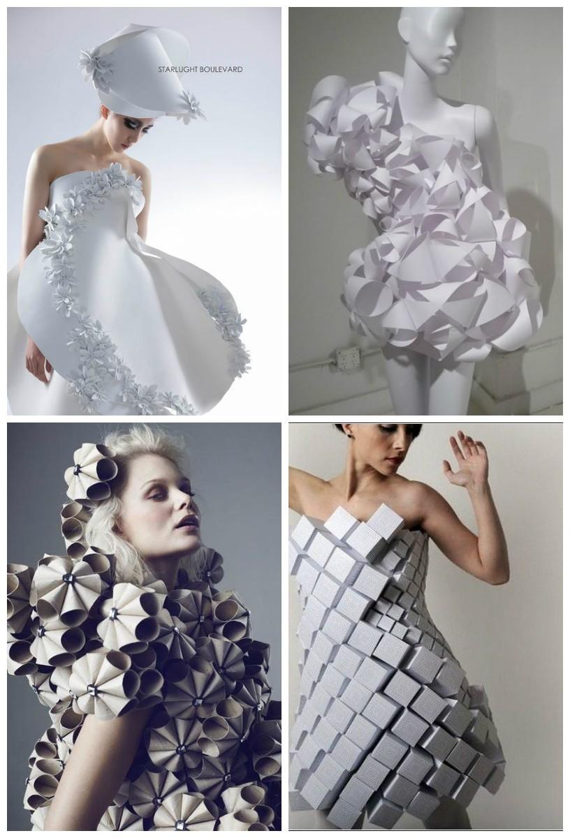 бумажные платья амилы хрустич