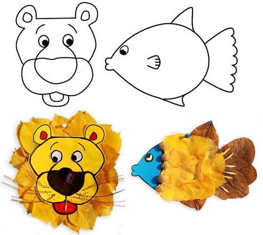 Поделки из листьев для детского сада