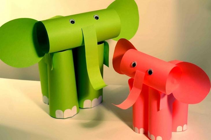 детские поделки слоник