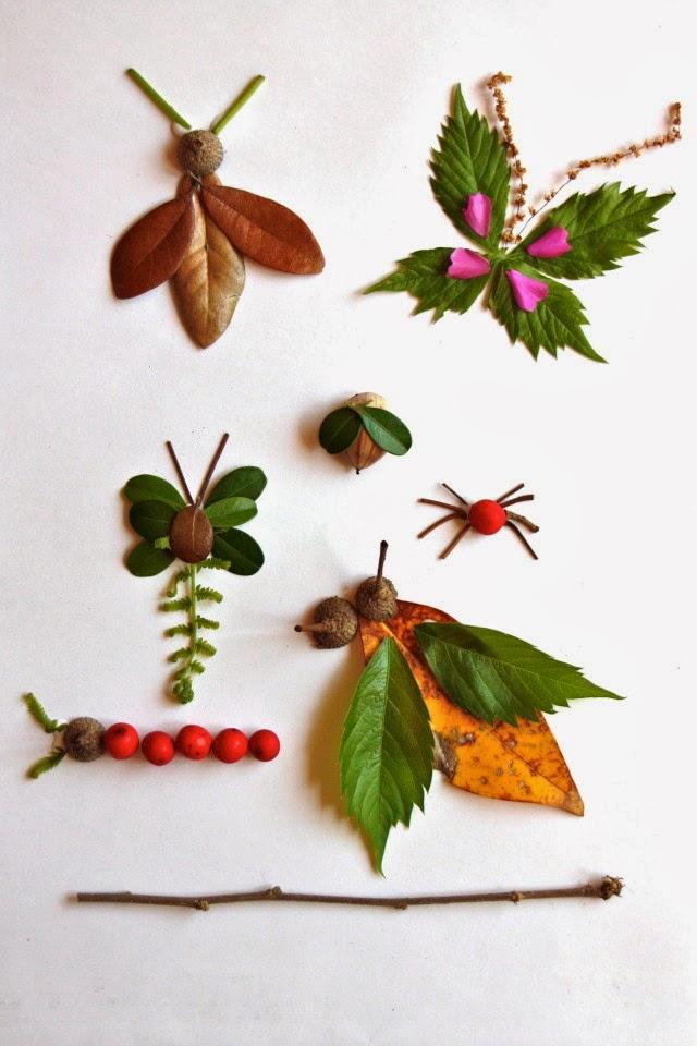 Насекомые из листьев