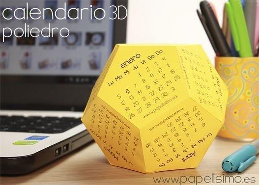 объемный календарь
