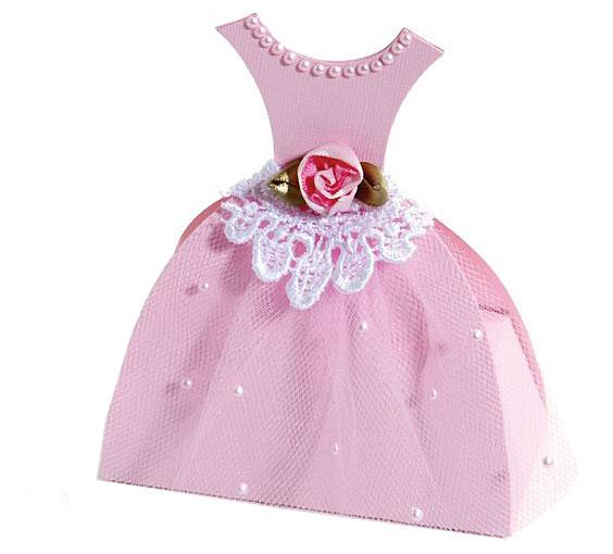 Коробочка платье из бумаги