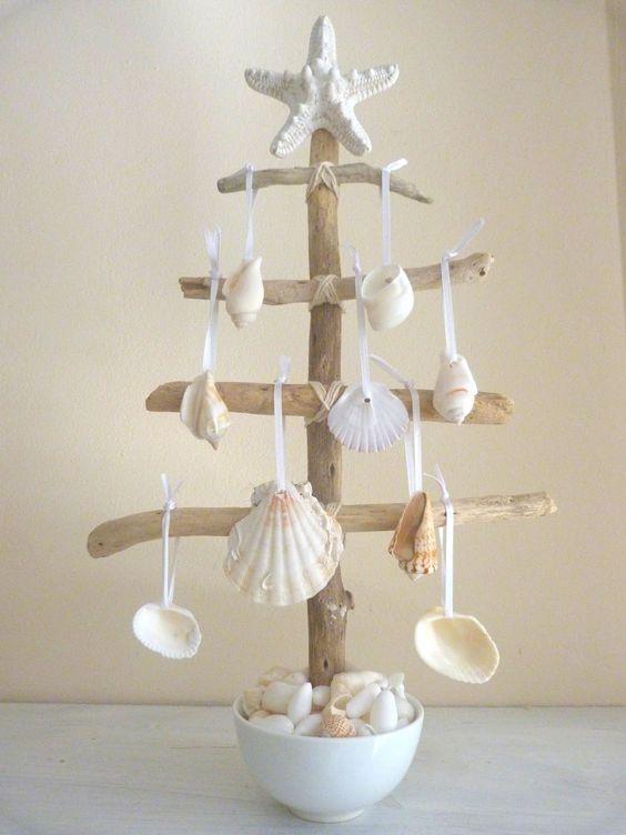 елка с ракушками