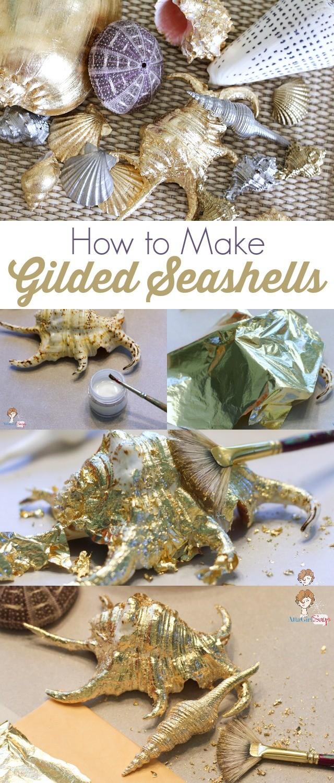 Мастер-класс по покрытию ракушек листом сусального золота