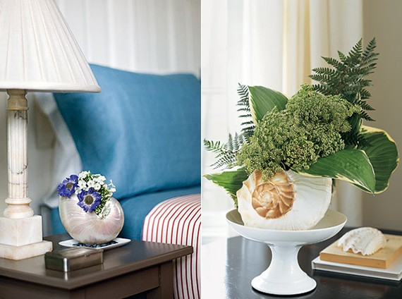 Эффектные вазы из ракушек