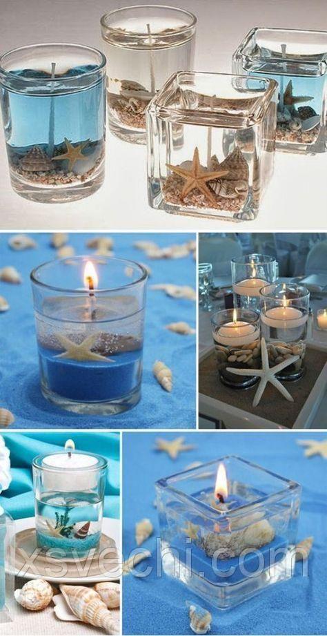 свечи с ракушками