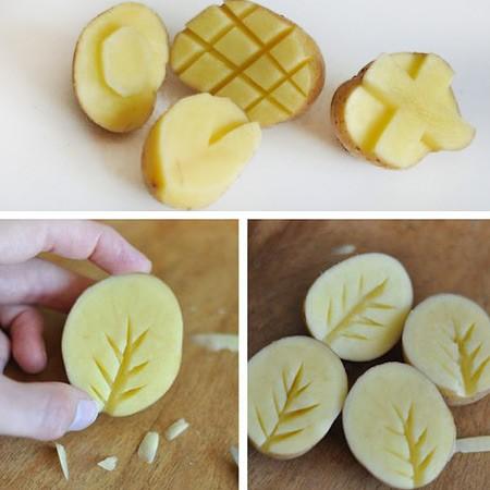 листья из картофеля