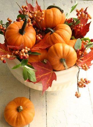 Осенняя композиция с тыквами