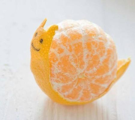 Улитка из мандарина