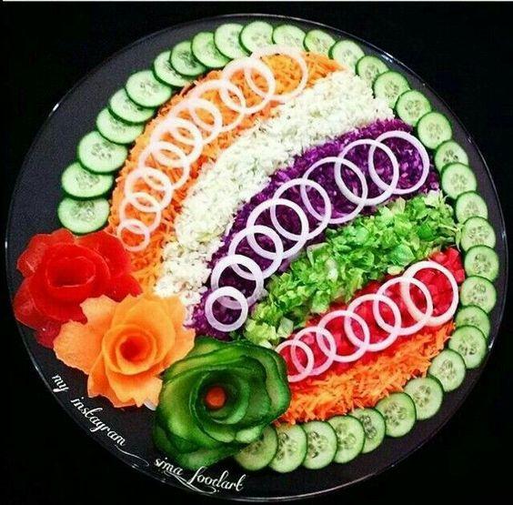 подача овощей