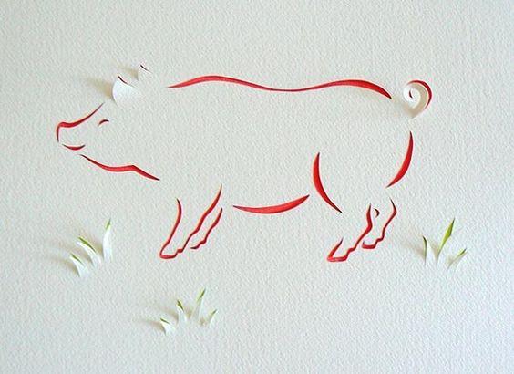 Вытынанки-свинки