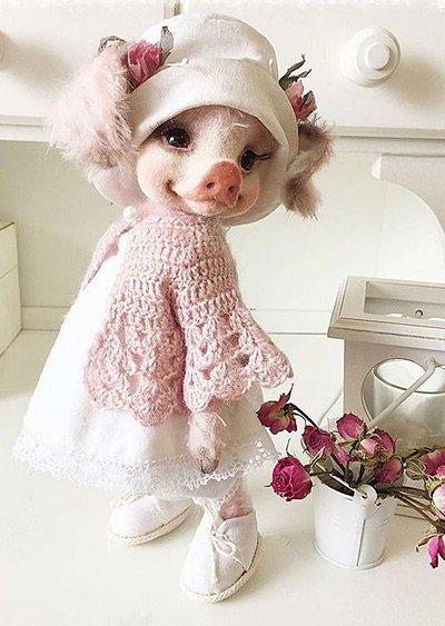 свинка валяние