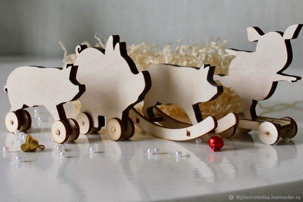 деревянные заготовки свинья