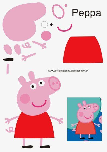 Свинка Пеппа из бумаги