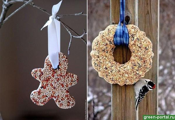 Зерновое печенье для птиц
