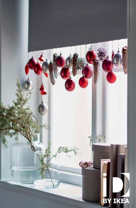 Украшение шторы к Новому году