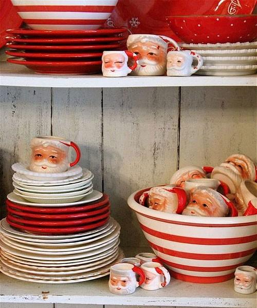 Красивая новогодняя посуда